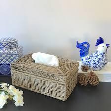 rattan tissue box cover home decor bathroom hampton u0027s coastal ebay
