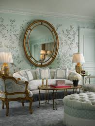 living room living room mirror wall with round gold frame finish