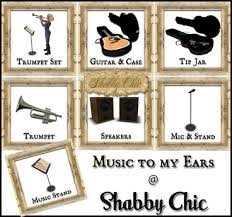 Shabby Chic Guitars by Second Life Marketplace Shabby Chic Vintage Music Stand