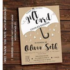 gift card bridal shower wording customized printable s wedding shower invitation