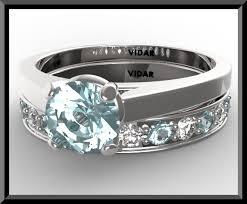 diamond wedding ring sets aquamarine wedding ring set vidar jewelry unique custom