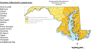 map of maryland with cities md coastal zone chesapeake coastal service