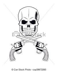 skull gun tattoo face design skull gun tattoo face gothic clip
