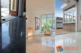 polished concrete flooring benefits and concrete