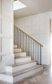 Difference Between Banister And Balustrade Panneled Walls And A Wrought Iron Balustrade In A Texas Home By