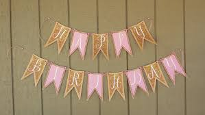 diy pink u0026 gold happy birthday banner pink and gold glitter