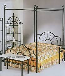 Bed Frame Canopy Black Sunburst Design Size Canopy Bed