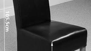 Scroll Back Leather Dining Chairs Black Leather Dining Chair Faux Chairs Uk Despecadilles