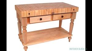 john boos rustica and le rustica tables butcher block co youtube