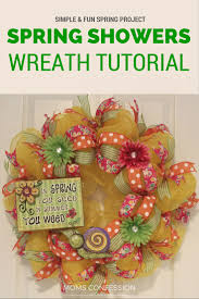 spring wreath simple spring decor idea