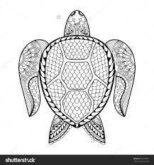 drawn turtle mandala pencil and in color drawn turtle mandala