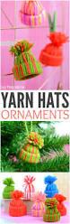 mini yarn hats ornaments diy christmas ornaments easy peasy