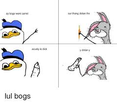 Bogs Meme - ay bogs want carret acualy is dick sur thang dolan thx y dolan y