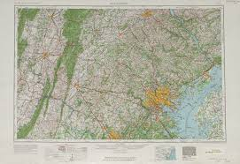 Topographic Map Of The United States by Baltimore Topographic Map Sheet United States 1963 Full Size