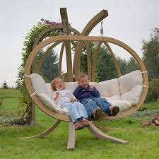 Hanging Swing Chair Outdoor by Globo Royal Hanging Swing Seat With Stand Spa Living