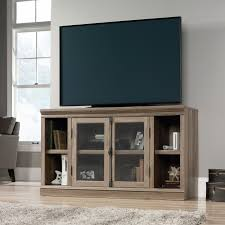 Better Homes And Gardens Tv Stand With Hutch Altra Furniture Bennett Glass Door Tv Stand Hayneedle