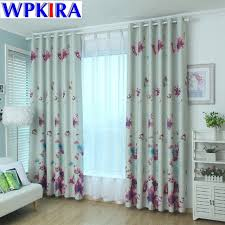 Floral Curtains Print Floral Curtain Living Room Cortinas Butterfly Flower
