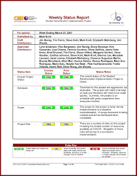 weekly report templates weekly status report it resume cover letter sample weekly status report