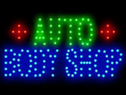 led lights for body shop 3q0224 auto body shop led neon sign display light sign new ebay