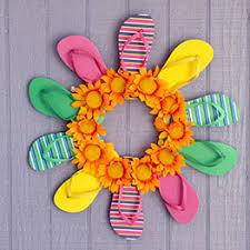 flip flop wreath flip flop wreath dollar tree value seekers club craft diy