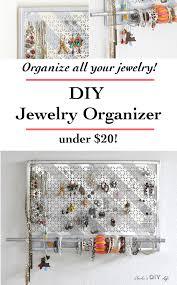 Jewelry Wall Hanger Diy Jewelry Organizer It Doubles As Wall Decor Anika U0027s Diy Life