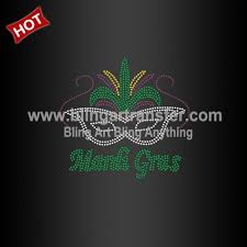 customized mardi gras customized mardi gras rhinestone heat transfers for garment
