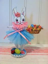 chenille easter easter bunny vintage style bump chenille figure vintage bunnies
