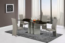d647dt dining set 5pc in brown gray by global w d735dc chairs