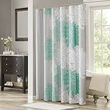 Gray And Teal Shower Curtain Amazon Com Madison Park Mp70 1465 Claire Shower Curtain 72 X 72
