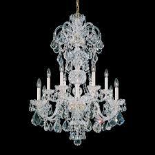Silver Chandelier by Schonbek Lighting 6813 40a Olde World Polished Silver Chandelier