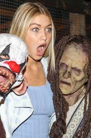 hadid at knotts scary farm celebrity vip opening at knott u0027s berry farm