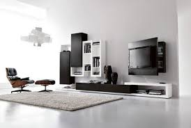 enchanting modern showcase design with black storage units for