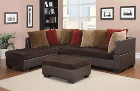 Corduroy Sectional Sofa U88018 Sectional Sofa In Chocolate Corduroy Fabric By Global