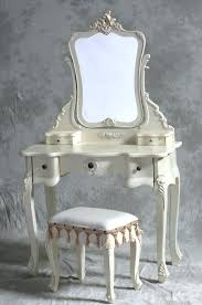 Antique Vanity With Mirror And Bench - antique vanity table with mirror and bench