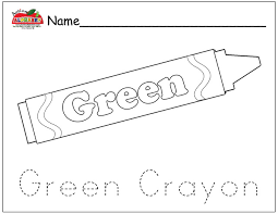 Coloring Pages Preschool Lesson Plans Green Coloring Page