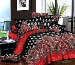 Red And White Comforter Sets Luxury White Black Red Paisley 3d Printing Bedding Set 4pcs