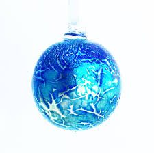 iridescent glass bauble ref i gb wight island glass