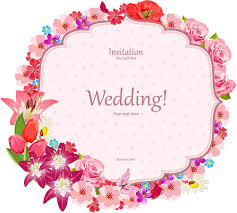 Wedding Invitation Card Flower Border Wedding Invitation Card Vector Eps