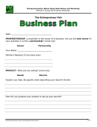 fill in the blank business plan template with free non profit