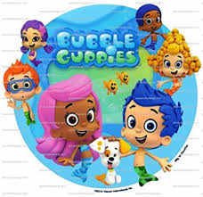 guppie cake toppers 6 guppies characters background birthday edible image
