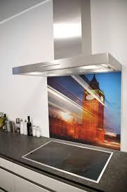 kitchen energizing sweet glossy orange glass splashback idea for