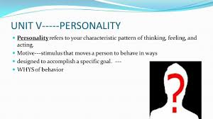unit v personality ppt video online download