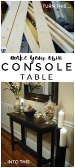 console table used as dining table diy console table a simple weekend project somewhat simple