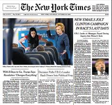 new york times report reveals ny times floods front page with fbi letter stories while