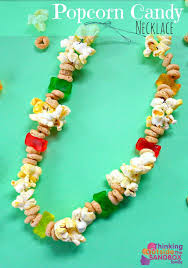 edible candy jewelry popcorn candy necklace edible crafts candy necklaces and popcorn