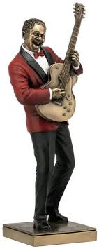 jazz saxophone player figurine sculpture statue home décor