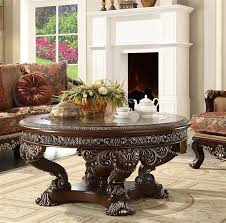 victorian coffee table set classic design 3 piece occasional table set by homey design hd 8017 ot