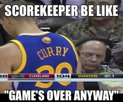 Warriors Memes - nba memes on twitter nba scorekeeper during the golden state