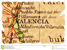 Map Of Valencia Spain by Valencia Spain Map Stock Photo Image 52573507