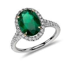 emerald engagement ring oval emerald and halo ring in platinum 3 01 cts blue nile